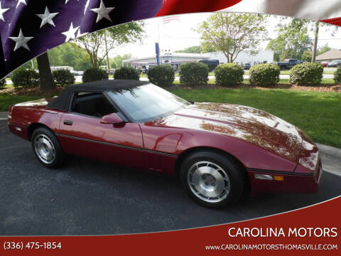 1987 Chevrolet Corvette for sale at CAROLINA MOTORS in Thomasville NC
