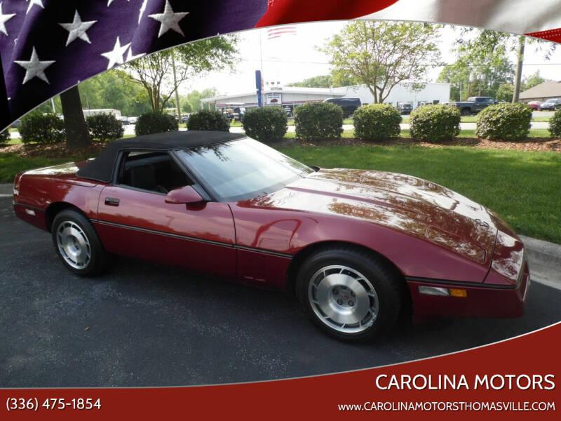 1987 Chevrolet Corvette for sale at CAROLINA MOTORS in Thomasville NC