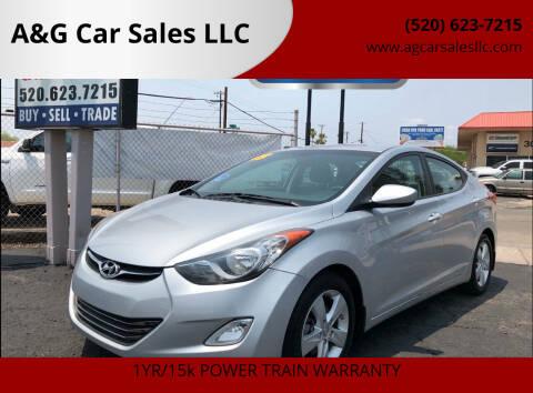 2013 Hyundai Elantra for sale at A&G Car Sales  LLC in Tucson AZ