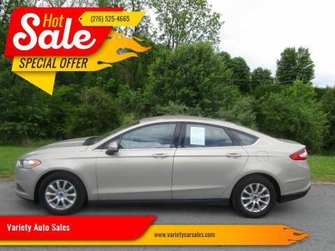 2016 Ford Fusion for sale at Variety Auto Sales in Abingdon VA