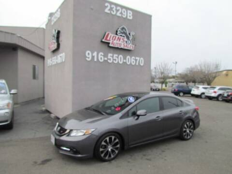 2013 Honda Civic for sale at LIONS AUTO SALES in Sacramento CA