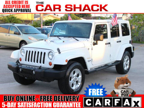 2013 Jeep Wrangler Unlimited for sale at The Car Shack in Hialeah FL