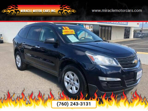 2015 Chevrolet Traverse for sale at Miracle Motor Cars Inc. in Victorville CA