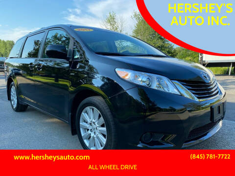 2017 Toyota Sienna for sale at HERSHEY'S AUTO INC. in Monroe NY