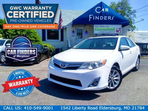 2012 Toyota Camry for sale at CAR FINDERS OF MARYLAND LLC - Certified Cars in Eldersburg MD