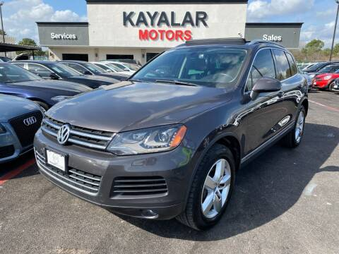 2013 Volkswagen Touareg for sale at KAYALAR MOTORS in Houston TX