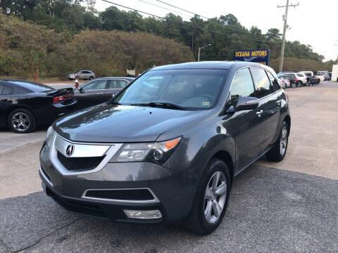 2012 Acura MDX for sale at Oceana Motors in Virginia Beach VA
