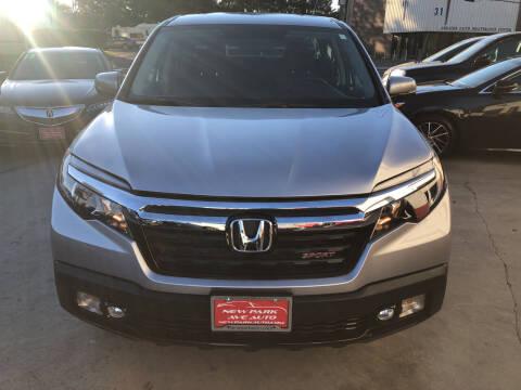 2019 Honda Ridgeline for sale at New Park Avenue Auto Inc in Hartford CT