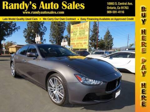 2015 Maserati Ghibli for sale at Randy's Auto Sales in Ontario CA