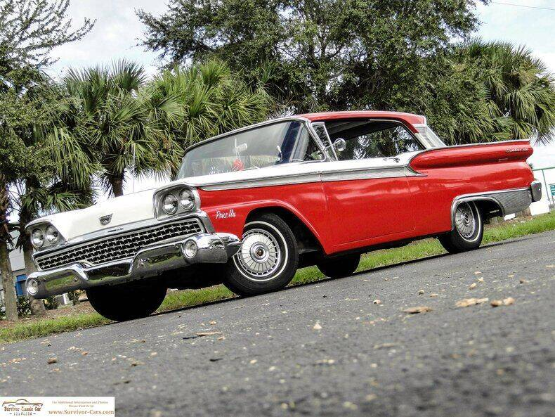 1959 Ford Fairlane for sale at SURVIVOR CLASSIC CAR SERVICES in Palmetto FL