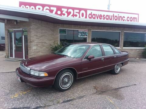 1992 Chevrolet Caprice for sale at Dave's Auto Sales & Service in Weyauwega WI