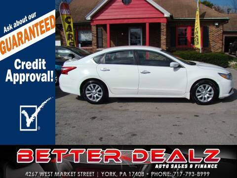 2017 Nissan Altima for sale at Better Dealz Auto Sales & Finance in York PA