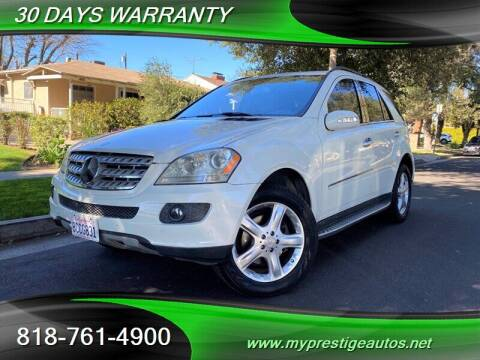 2008 Mercedes-Benz M-Class for sale at Prestige Auto Sports Inc in North Hollywood CA
