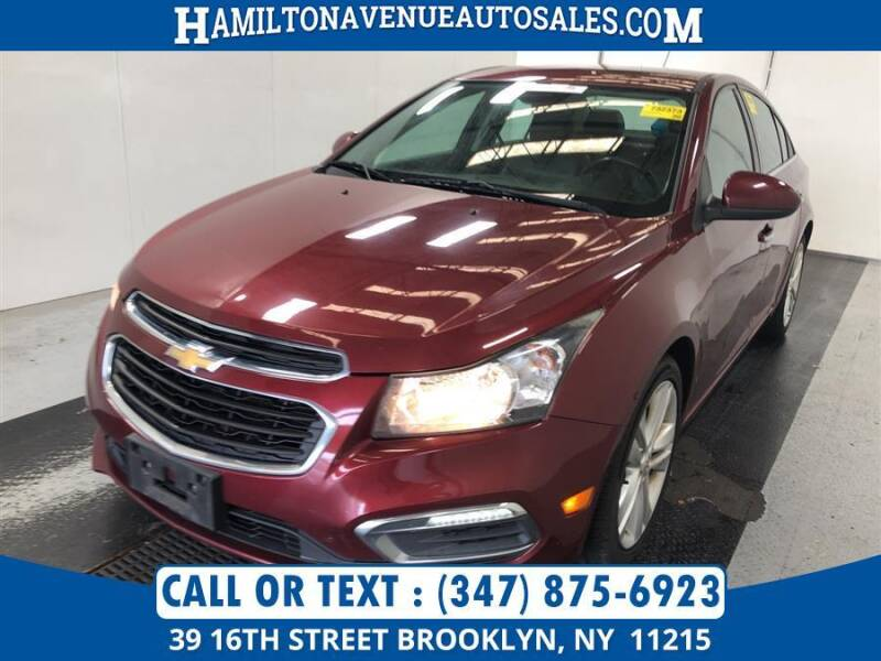 2015 Chevrolet Cruze for sale at Hamilton Avenue Auto Sales in Brooklyn NY