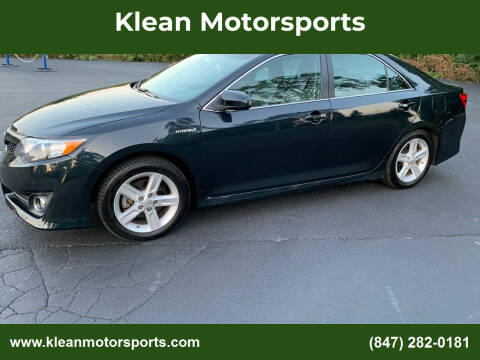 2014 Toyota Camry Hybrid for sale at Klean Motorsports in Skokie IL