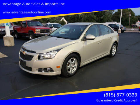 2012 Chevrolet Cruze for sale at Advantage Auto Sales & Imports Inc in Loves Park IL