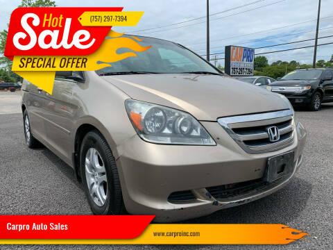 2006 Honda Odyssey for sale at Carpro Auto Sales in Chesapeake VA