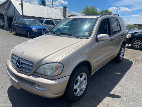 2003 Mercedes-Benz M-Class for sale at Cliff's Qualty Auto Sales in Spokane WA