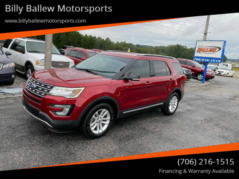 2017 Ford Explorer for sale at Billy Ballew Motorsports in Dawsonville GA