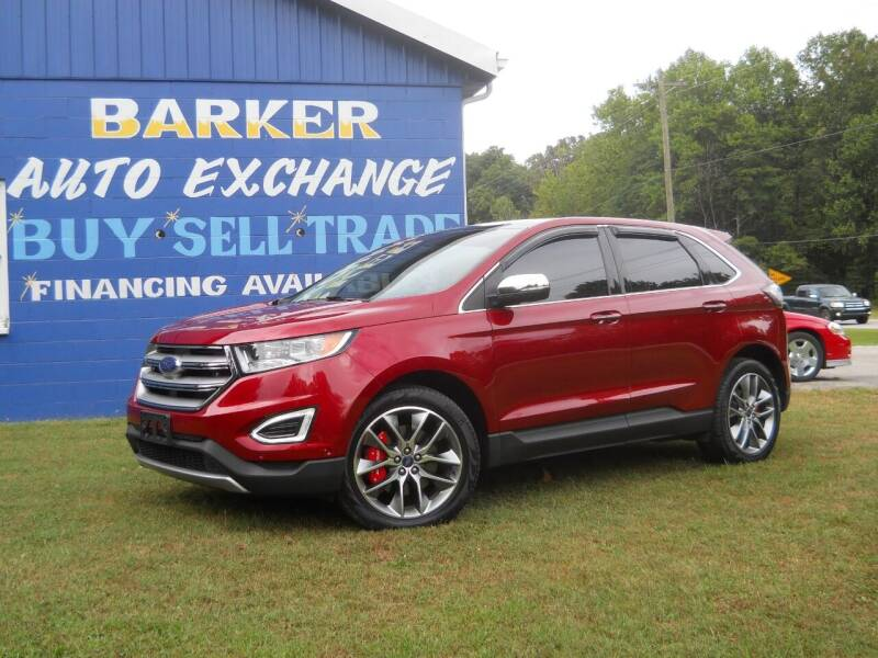 2016 Ford Edge for sale at BARKER AUTO EXCHANGE in Spencer IN