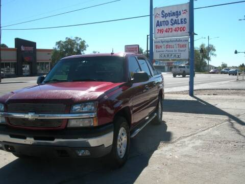 2004 Chevrolet Avalanche for sale at Springs Auto Sales in Colorado Springs CO