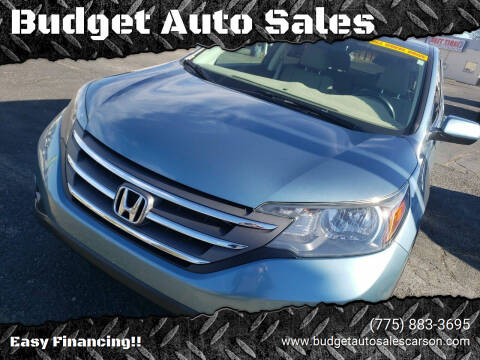 2013 Honda CR-V for sale at Budget Auto Sales in Carson City NV