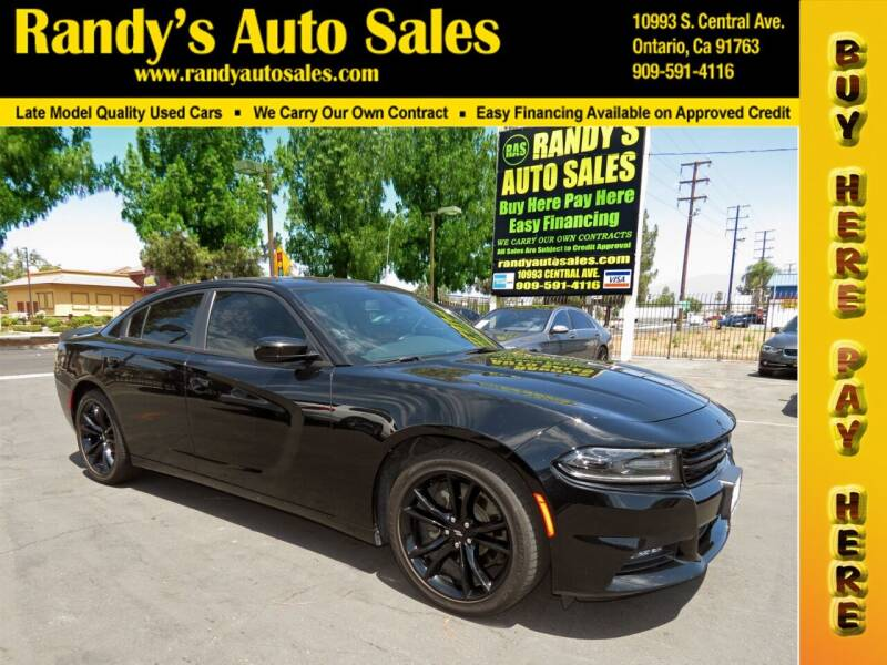 2017 Dodge Charger for sale at Randy's Auto Sales in Ontario CA