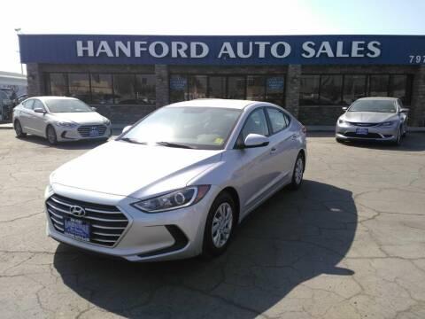 2017 Hyundai Elantra for sale at Hanford Auto Sales in Hanford CA