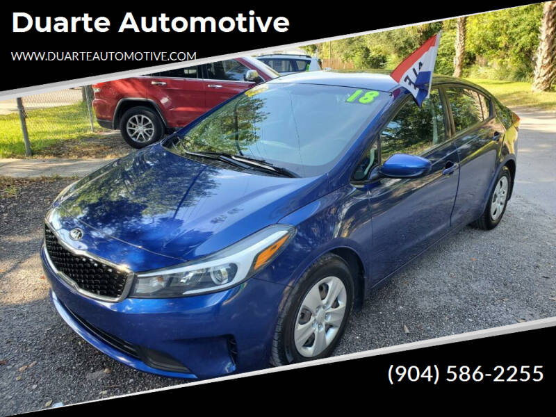 2018 Kia Forte for sale at Duarte Automotive in Jacksonville FL