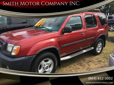2001 Nissan Xterra for sale at Smith Motor Company INC in Mc Cormick SC