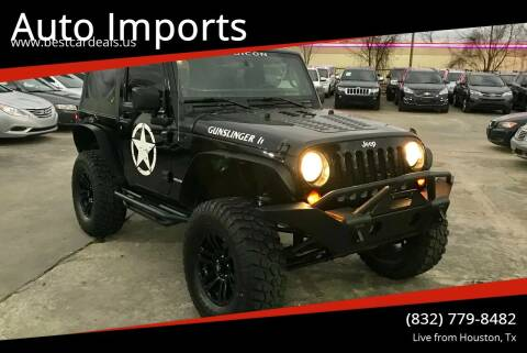 2009 Jeep Wrangler for sale at Auto Imports in Houston TX
