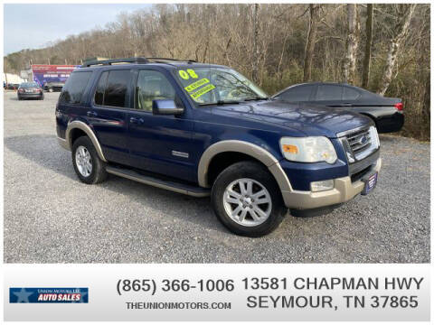 2008 Ford Explorer for sale at Union Motors in Seymour TN
