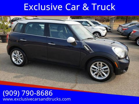 2012 MINI Cooper Countryman for sale at Exclusive Car & Truck in Yucaipa CA