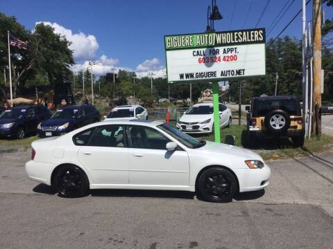 2007 Subaru Legacy for sale at Giguere Auto Wholesalers in Tilton NH