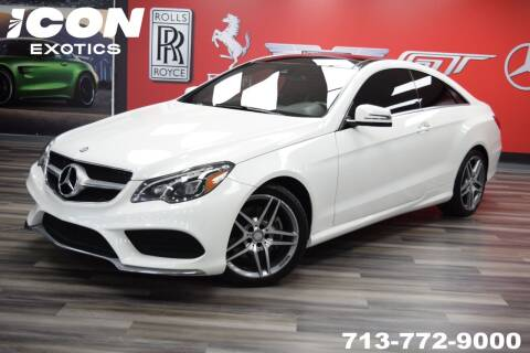 2017 Mercedes-Benz E-Class for sale at Icon Exotics in Houston TX