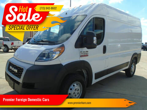 2019 RAM ProMaster Cargo for sale at Premier Foreign Domestic Cars in Houston TX