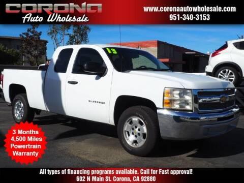 2013 Chevrolet Silverado 1500 for sale at Corona Auto Wholesale in Corona CA