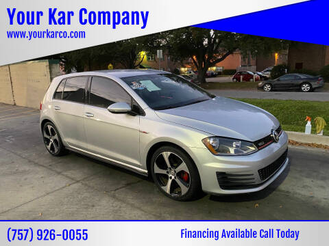 2016 Volkswagen Golf GTI for sale at Your Kar Company in Norfolk VA