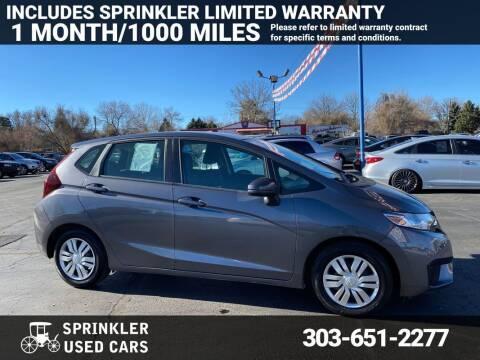 2015 Honda Fit for sale at Sprinkler Used Cars in Longmont CO