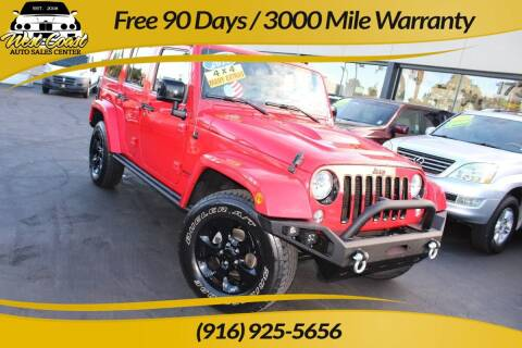 2015 Jeep Wrangler Unlimited for sale at West Coast Auto Sales Center in Sacramento CA