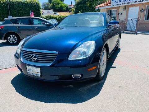 2002 Lexus SC 430 for sale at MotorMax in Lemon Grove CA
