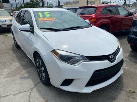 2015 Toyota Corolla for sale at CAR GENERATION CENTER, INC. in Los Angeles CA