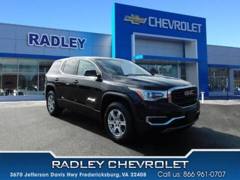 2018 GMC Acadia for sale at Radley Cadillac in Fredericksburg VA
