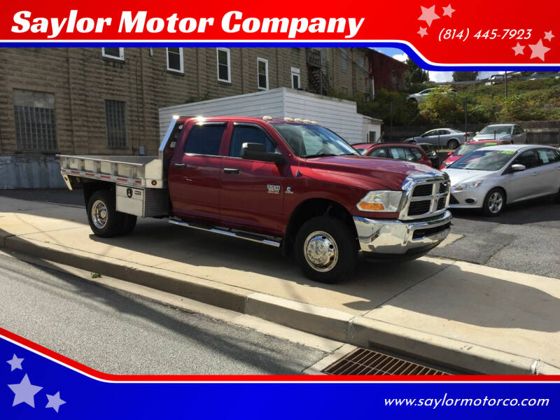 2012 RAM Ram Pickup 3500 for sale at Saylor Motor Company in Somerset PA