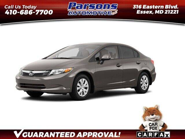 2012 Honda Civic for sale in Essex, MD