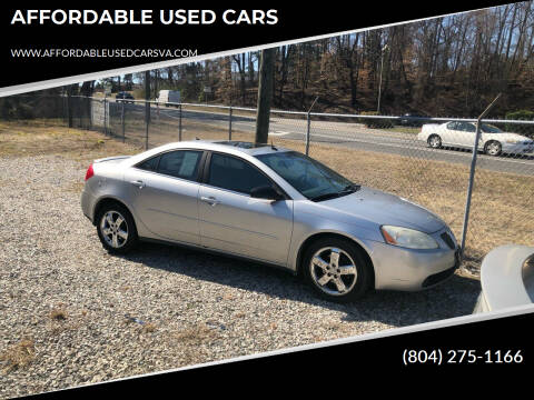2005 Pontiac G6 for sale at AFFORDABLE USED CARS in Richmond VA