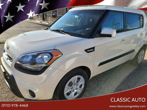 2012 Kia Soul for sale at Classic Auto in Greeley CO