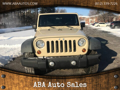 2012 Jeep Wrangler for sale at ABA Auto Sales in Bloomington IN