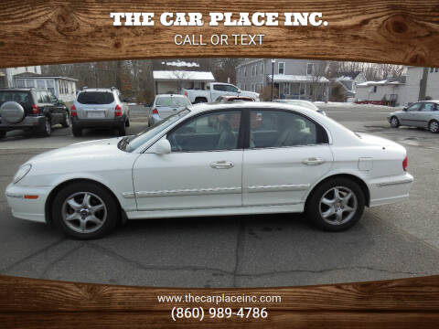 2005 Hyundai Sonata for sale at THE CAR PLACE INC. in Somersville CT