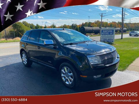 2007 Lincoln MKX for sale at SIMPSON MOTORS in Youngstown OH